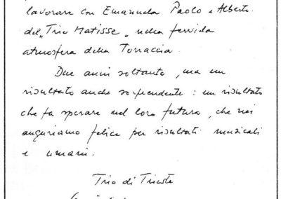 Lettera del Trio di Trieste